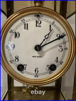 Antique Seth Thomas Crystal Regulator Clock 8-Day Time/Strike Rebuilt Movement