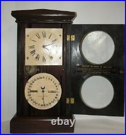 Antique Seth Thomas Double Dial Calendar Clock 8-day, Time/strike