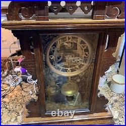 Antique Seth Thomas Eclipse Mantle Clock Working