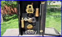 Antique Seth Thomas Garfield Time & Strike Weight Driven Shelf Mantle Clock
