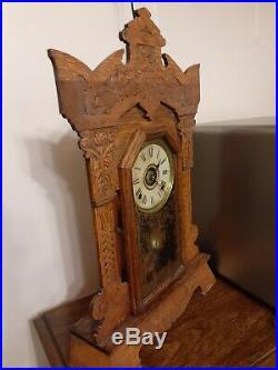 Antique Seth Thomas Giant Series Kitchen Clock with Alarm 8-Day, Time/Strike
