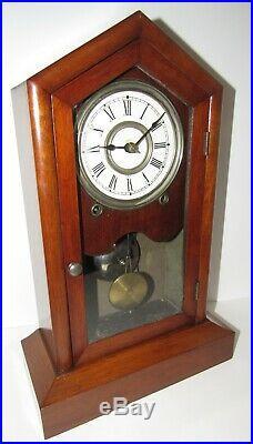 Antique Seth Thomas Gothic Clock 8-day, Time/bell Strike, Key-wind