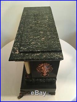 Antique Seth Thomas Green Adamantine Mantel Mantle Clock Parts Repair Six Column