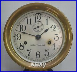 Antique Seth Thomas Lever Bottom Bell Ships Clock