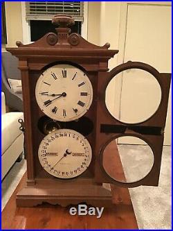 Antique Seth Thomas Mantel Parlor Calendar Clock 1876