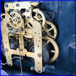 Antique Seth Thomas Mantle Clock Faux Marble Brass Accents
