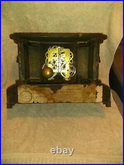 Antique Seth Thomas Mantle Clock Lion Adamantine 1880