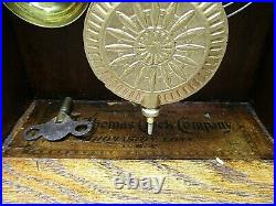 Antique Seth Thomas Metal Series No. 2 Mantle Clock 1900