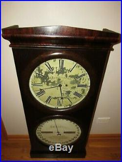 Antique Seth Thomas No. 2 Office Calendar Clock Weight Driven Big