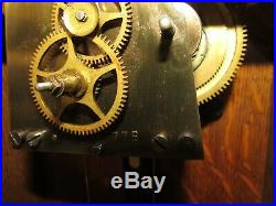 Antique Seth Thomas No. 2 Railroad Wall Regulator Clock Ball Watch Co. Cleveland
