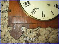 Antique Seth Thomas Queen Anne Time Piece Wall Regulator Clock 8-day