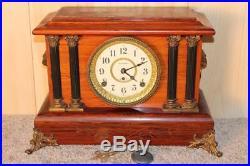 Antique Seth Thomas Rosewood Adamantine 8 Day Clock Early 1900's Runs Good