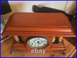Antique Seth Thomas Rosewood Mantel Clock c1880, Running, Repaired March 2017