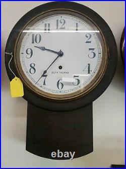 Antique Seth Thomas Schoolhouse Wall Clock