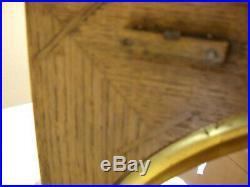 Antique Seth Thomas Senate Oak Commercial / School 8 Day Wall Clock Works USA