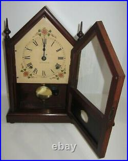 Antique Seth Thomas Sharon No. 161 Steeple Clock 8-Day, Time and Strike
