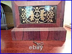 Antique Seth Thomas Shelf Clock With Alarm And Freemasons Insignia