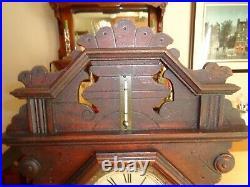 Antique Seth Thomas Shelf Clock with Level & Thermometer