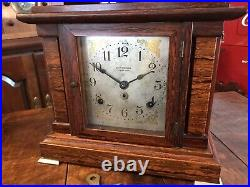 Antique Seth Thomas Sonora 4 Bell Chime Clock withKey Runs & Chimes Nice