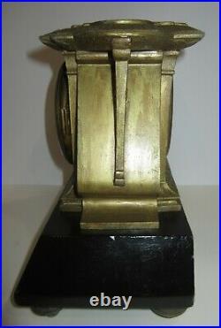 Antique Seth Thomas Sons & Co N. Y. Mantel Clock 8-Day, Time/Bell Strike