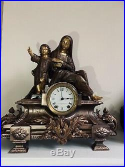 Antique Seth Thomas & Sons Madonna And Child Figural Clock