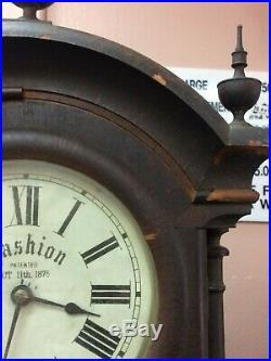 Antique Seth Thomas Southern Clock Co. Double Dial Calendar Clock 1875