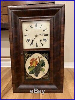 Antique Seth Thomas Thomaston Weight Driven Shelf Clock Mid 1800's
