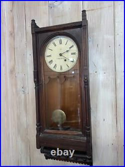 Antique Seth Thomas Victorian Regulator Clock Wall Clock