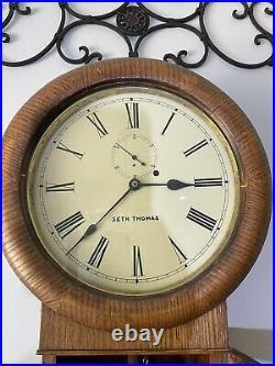 Antique Seth Thomas Wall Regulator Clock
