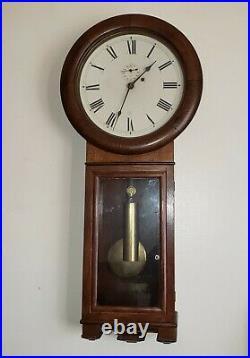 Antique Seth Thomas Weight Driven, No. 2 Regulator Wall Clock