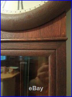 Antique Seth Thomas oak # 2 Regulator Clock
