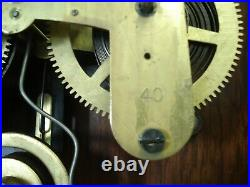 Antique Seth Thomas walnut wall clock works withchime MUST SEE emile Jacot jewelry