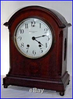 Antique Smith Patterson Boston Seth Thomas Chime Key-wind Bracket Clock Working