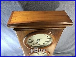 Antique Style Seth Thomas Double Dial Calendar Clock Month 8 Day Movement Date