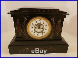 Antique Working 1800's SETH THOMAS Victorian Marble Open Escapement Mantel Clock