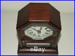 Antique Working 19th C. SETH THOMAS Octagon Top Mini Rosewood Cottage Clock RARE