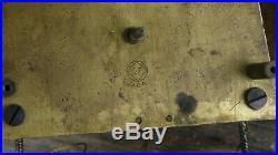 Antique seth thomas weight driven wall regulator movement + dial & hands