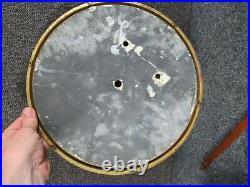 Antique signed SETH THOMAS brass CALENDAR CLOCK FACE, MOVEMENT & PENDULUM