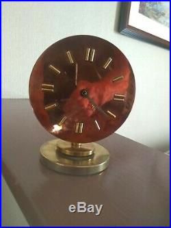 Art Deco Machine Age Copper And Bronze Eight Day Seth Thomas Clock