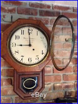 Ball's Watch Co. /Seth Thomas Standard short drop Regulator Clock Rare Antique