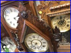 Beautiful Antique Ingraham Old Wood Steeple Mantle Parlor Kitchen Chime Clock