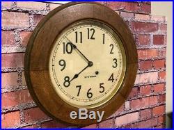 Beautiful Antique Seth Thomas Principal Old Wood Bank-lobby-gallery Wall Clock