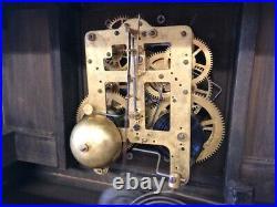Beautiful Antique Seth Thomas Unlisted Gold-bronze Adamantine Mantle Chime Clock