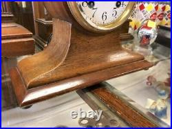 Beautiful Rare Antique Ansonia-old Wood Balloon-beehive Mantle Desk Chime Clock