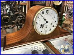 Beautiful Vtg Antique Seth Thomas Mahogany Wood Westminster Chime Mantle Clock