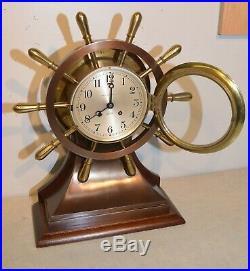 Chelsea Mariner 6 Dial Ship's Bell Strike Clock Superb Model Special Price
