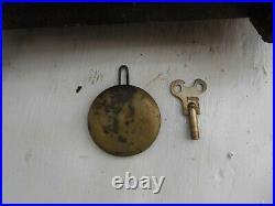 Early Seth Thomas 8 Day Alarm Mantle Antique Clock Circa 1860's