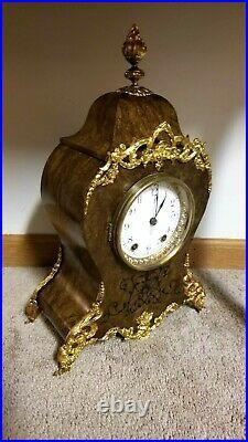 Fully Restored Rare Antique Seth Thomas Paris Adamantine Mantle Clock circa 1894