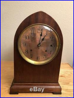 Hennegen Bates/Seth Thomas Sonora Chime 4 Bell Beehive Clock Copper Dial Ca 1910