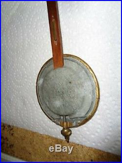Large-Antique-Seth Thomas-Clock Movement & Engine Turned Pendulum Bob-#T612